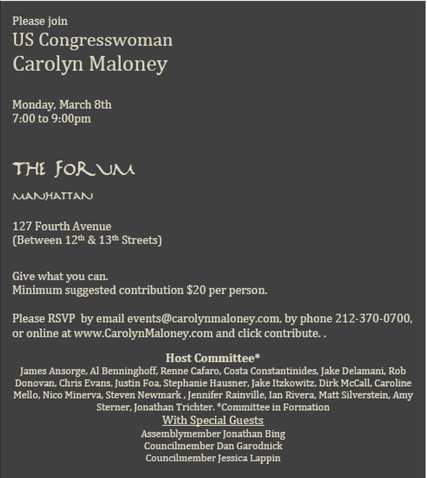 Maloney Invite, March 8th