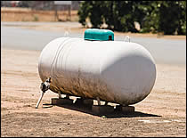 Photo of propane tank.