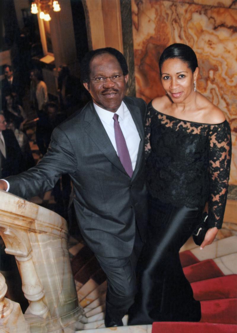 Amelia and Bayo Ogunlesi